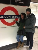Me and hubby at the Underground-I'm very excited